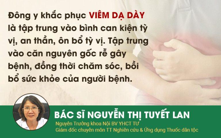 Sơ can Bình vị tán xử lý viêm dạ dày tuân theo đúng nguyên tắc điều trị của YHCT