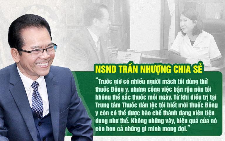 NSND Trần Nhượng đánh giá tích cực về bài thuốc chữa đau dạ dày tại Thuốc dân tộc
