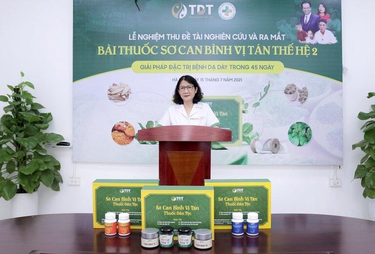 Chủ nhiệm đề tài - Ths. Bs Nguyễn Thị Tuyết Lan có đôi lời phát biểu