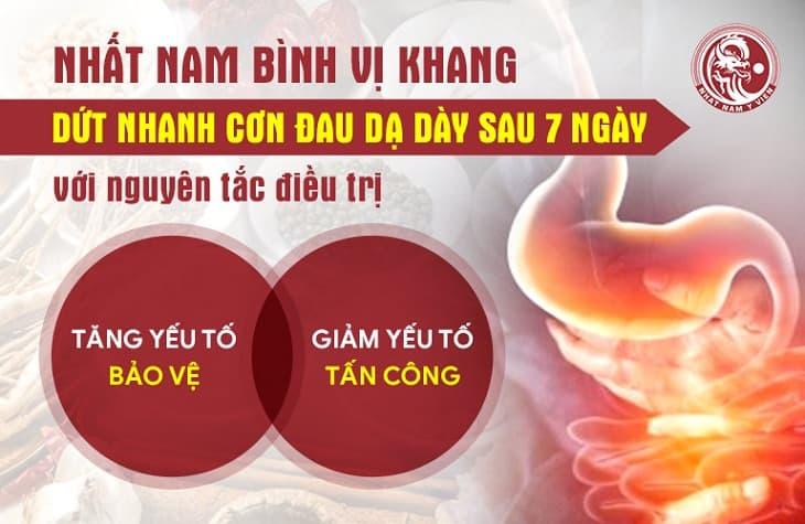 Nhất Nam Bình Vị Khang mang lại hiệu quả chuyên sâu trong quá trình điều trị các chứng bệnh dạ dày
