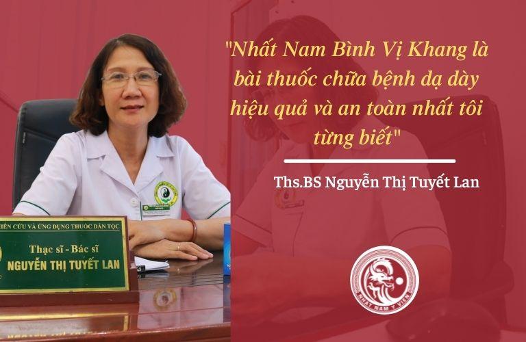 Bác sĩ Tuyết Lan đánh giá về bài thuốc Nhất Nam Bình Vị Khang