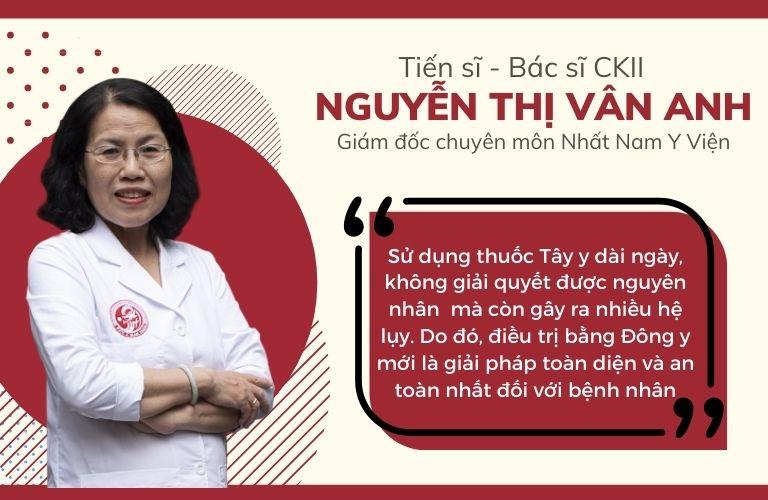 Tiến sĩ Vân Anh nhấn mạnh hiệu quả của phương pháp Đông y trong điều trị dạ dày