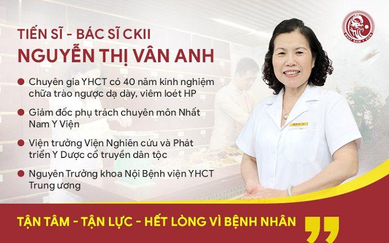 Bác sĩ Vân Anh là người có 40 năm kinh nghiệm trong điều trị bệnh dạ dày